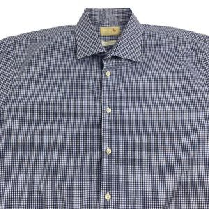 Michael Michael Kors Blue checkered dress shirt XL